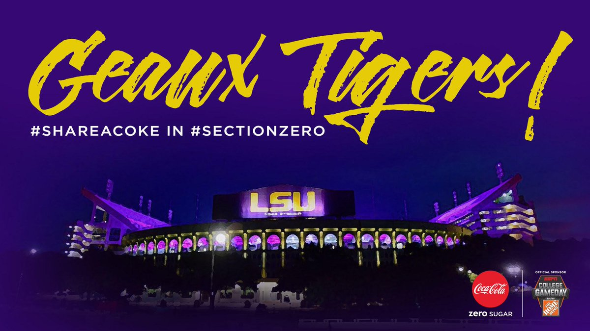 .@CollegeGameDay is Callin' Baton Rouge so be sure to bring it to Section Zero! #GeauxTigers