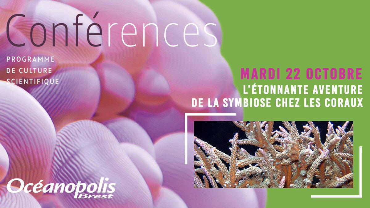 // Demain à @Oceanopolis_ // #Conférence | Du mariage au divorce, l'étonnante aventure de la #symbiose chez les #coraux. 🗣 par le Professeur Denis Allemand spécialiste du corail, Directeur scientifique du Centre Scientifique de Monaco. - ➕ oceanopolis.com/conferences-du… #FFAO2019