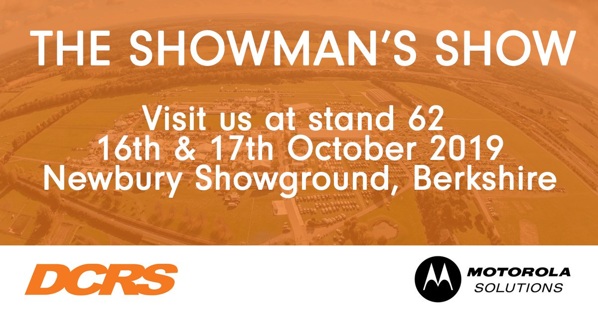 During @TheShowmansShow next week we will be showcasing the entire range of @MotoSolutions #radio #equipment, this includes: voice recording solutions, a radio allocation system and a range of nationwide coverage POC radios. Make sure to say hello to Steve and Ray! #UKBizHour