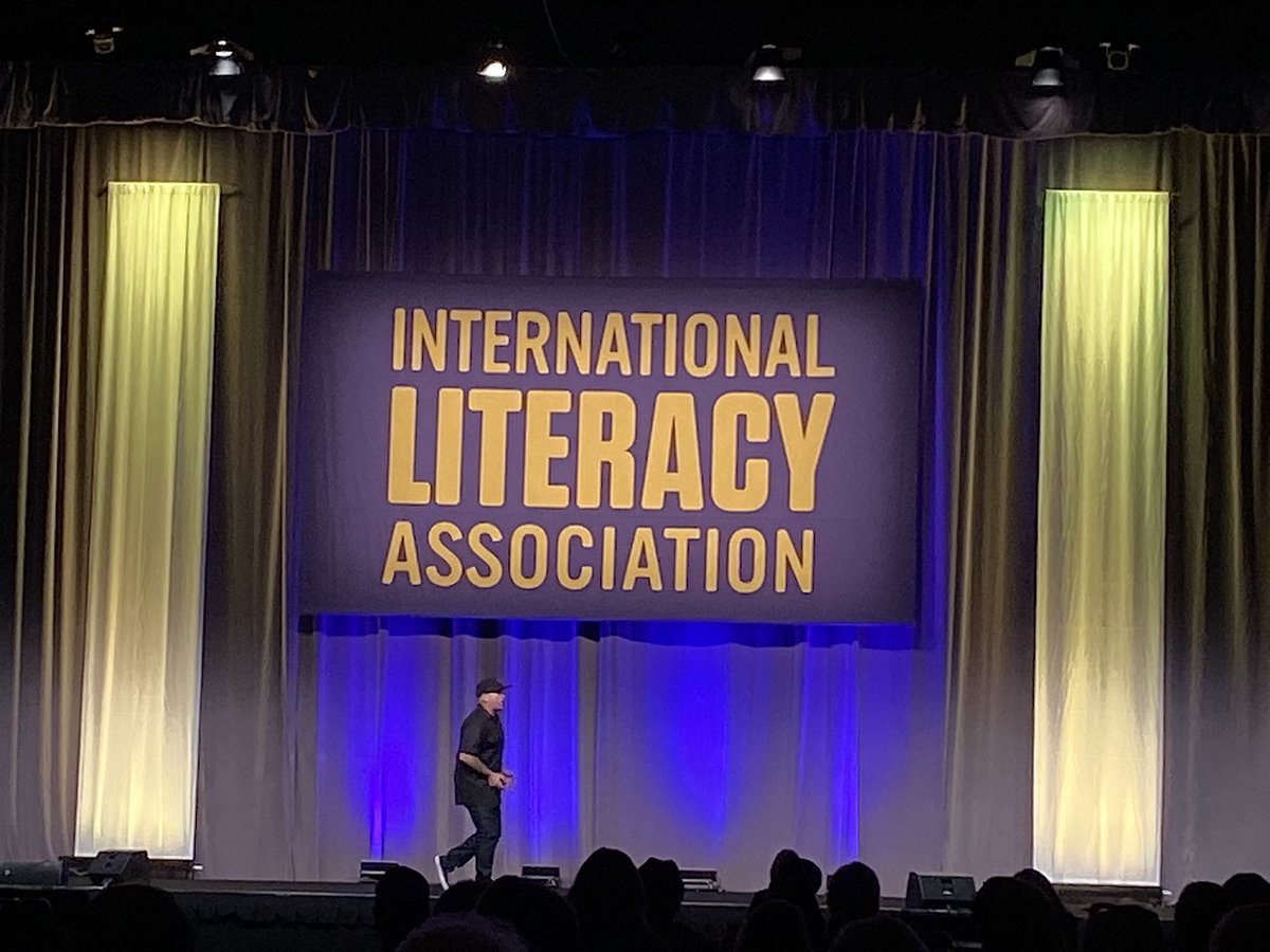 """My weapon of choice is Literacy"" Hamish Brewer #ILA19 Totally agree with you! @brewerhm @ILAToday"