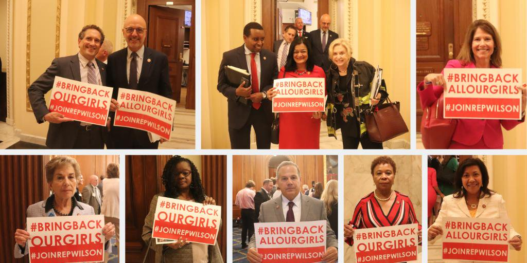 My heart breaks for the 112 still-missing #ChibokGirls who were abducted by Boko Haram over 5 years ago. We must not allow them to be forgotten! #BringBackOurGirls