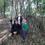 Image for the Tweet beginning: Fun and games; making dens,
