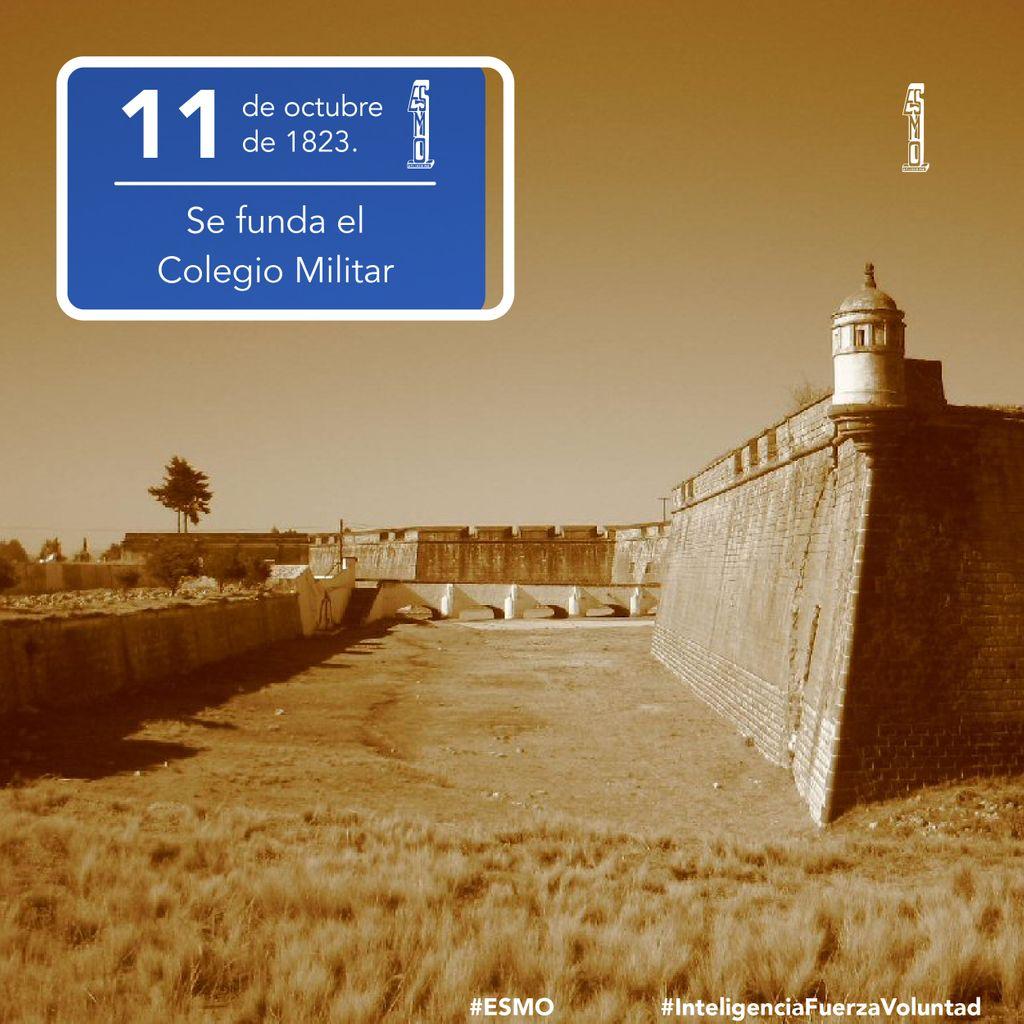🗓 11 de octubre de 1823 🏅  Se funda el Colegio Militar en la Fortaleza de San Carlos, en Perote, Veracruz.  #ESMO #InteligenciaFuerzaVoluntad #HacerHistoriaHacerFuturo #Atlixco #Puebla #México #NuevaEscuelaMexicana #educación #EducaciónBásica #AccionesPorLaEducación
