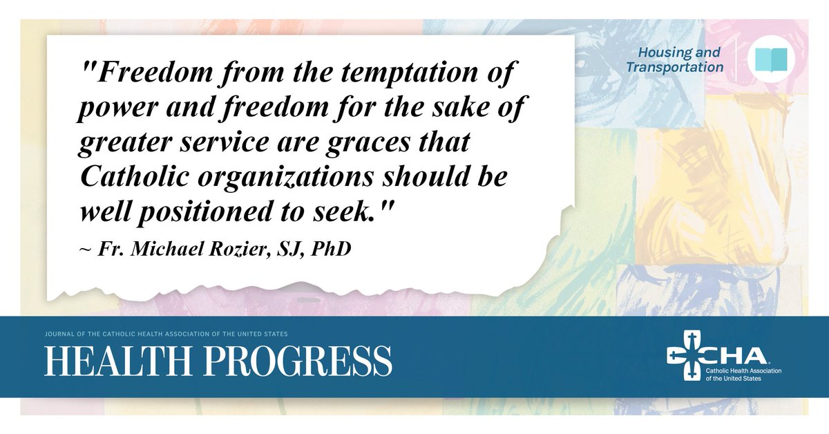 """Freedom from the temptation of power and freedom for the sake of greater service are graces that Catholic organizations should be well positioned to seek."" — Fr. Michael Rozier, SJ, PhD http://ow.ly/nAfY50wwZCl  #HealthProgress #CatholicHealth @RozierSJ"