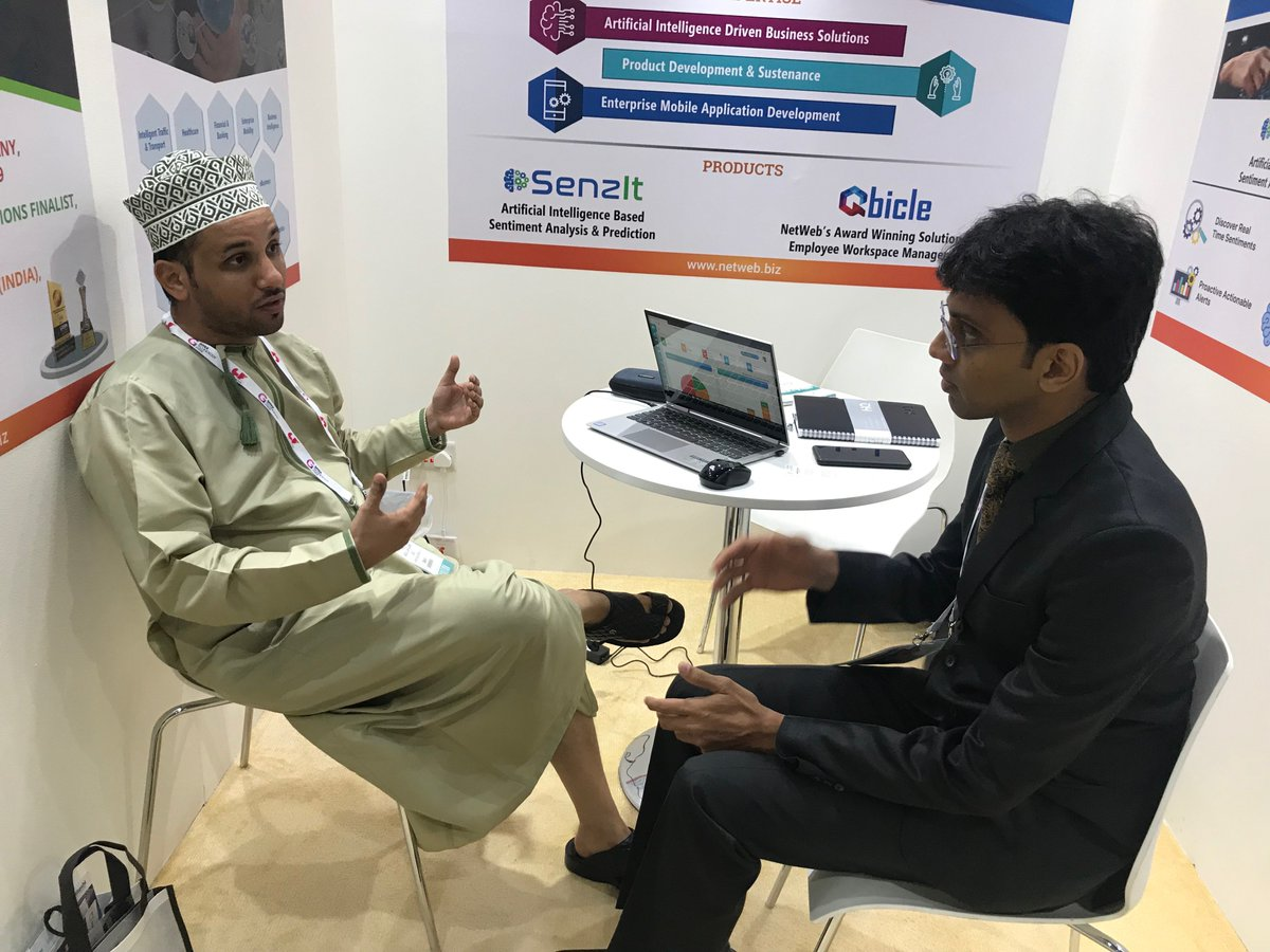 Thank you for joining us @GITEXTechWeek . We would like to thank all our business partners, clients and prospects. Special thanks to @nasscom #GITEXDubai2019 #NetWebExhibits #TechnologyWeek  #BestPlacetoWork #SoftwareDevelopment #artificialintellegence #SenzIt