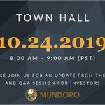 Image for the Tweet beginning: SAVE THE DATE for @MundoroCapital