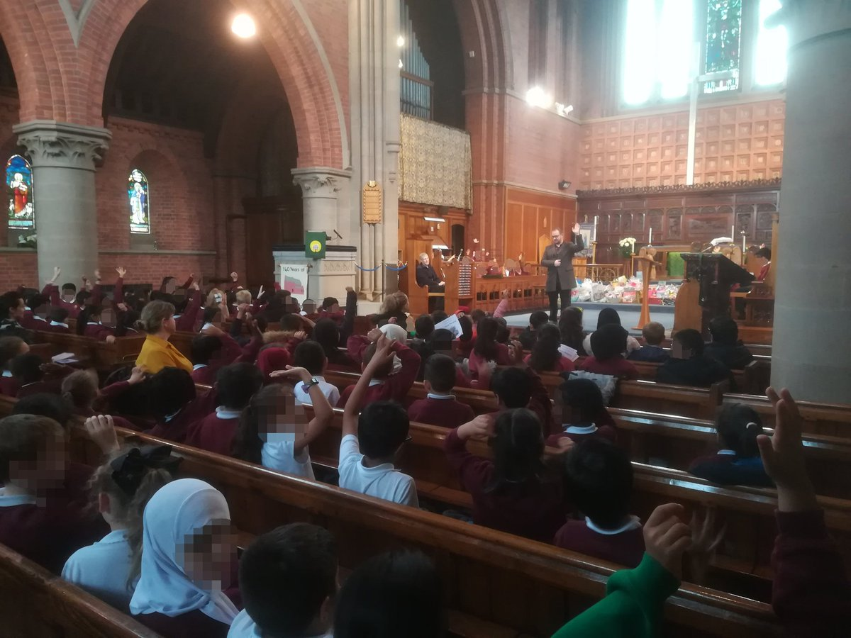 So good to gather with @StThomas_CE to celebrate Harvest. Sam from @UrbanOutreachUK spoke to us about being the ingredients that make up Bolton, and how we need to work together to help those most in need. Thank you for all the kind donations that will go to help do just that!