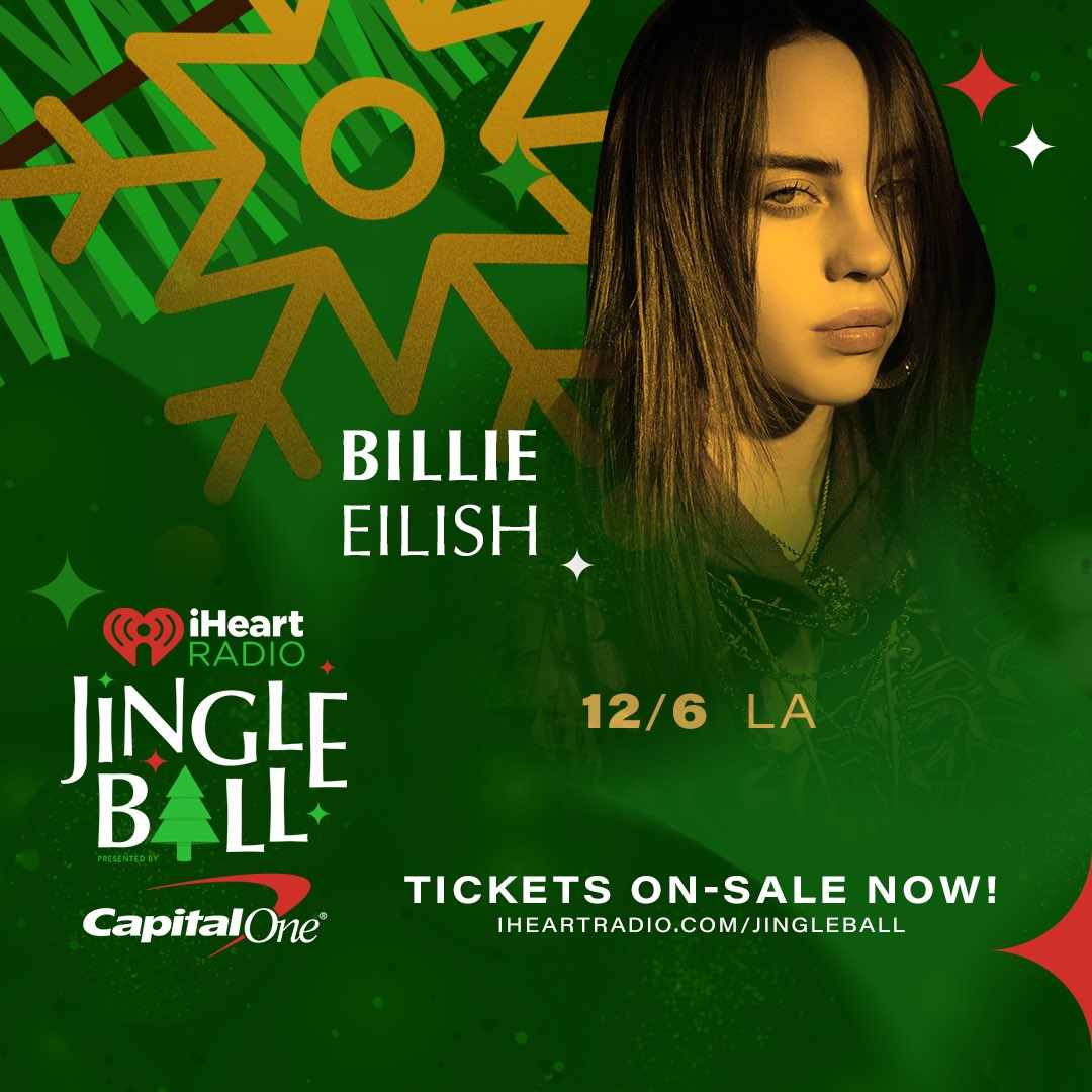 See Billie in LA on the @iHeartRadio Jingle Ball Tour. Tickets are available now. iHeartRadio.com/JingleBall