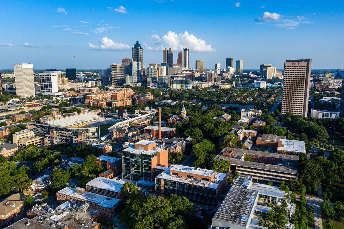Georgia Tech, the 💛of Atlanta. #georgiatech #gtalumni 📷 : Danny Karnik EE 07, MS ECE 16