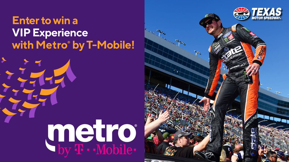 .@MetroByTMobile is giving you the change to watch the #AAATexas500 from a Luxury Suite, go to the drivers meeting and even be in Victory Lane after the race! Enter to win now » bit.ly/2oEF7Ai
