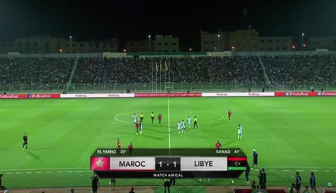 منتخب المغرب يتعادل إيجابيا مع منتخب ليبيا في مباراة دولية ودية