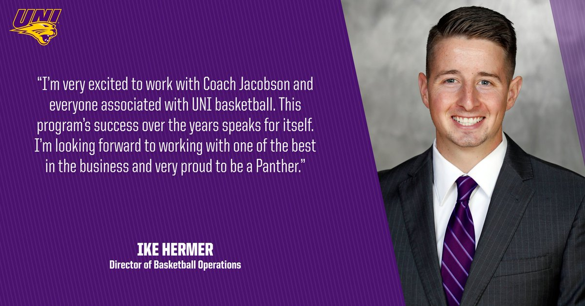 Ike Hermer joins the men's basketball staff as the new Director of Basketball Operations!  #UNIFight