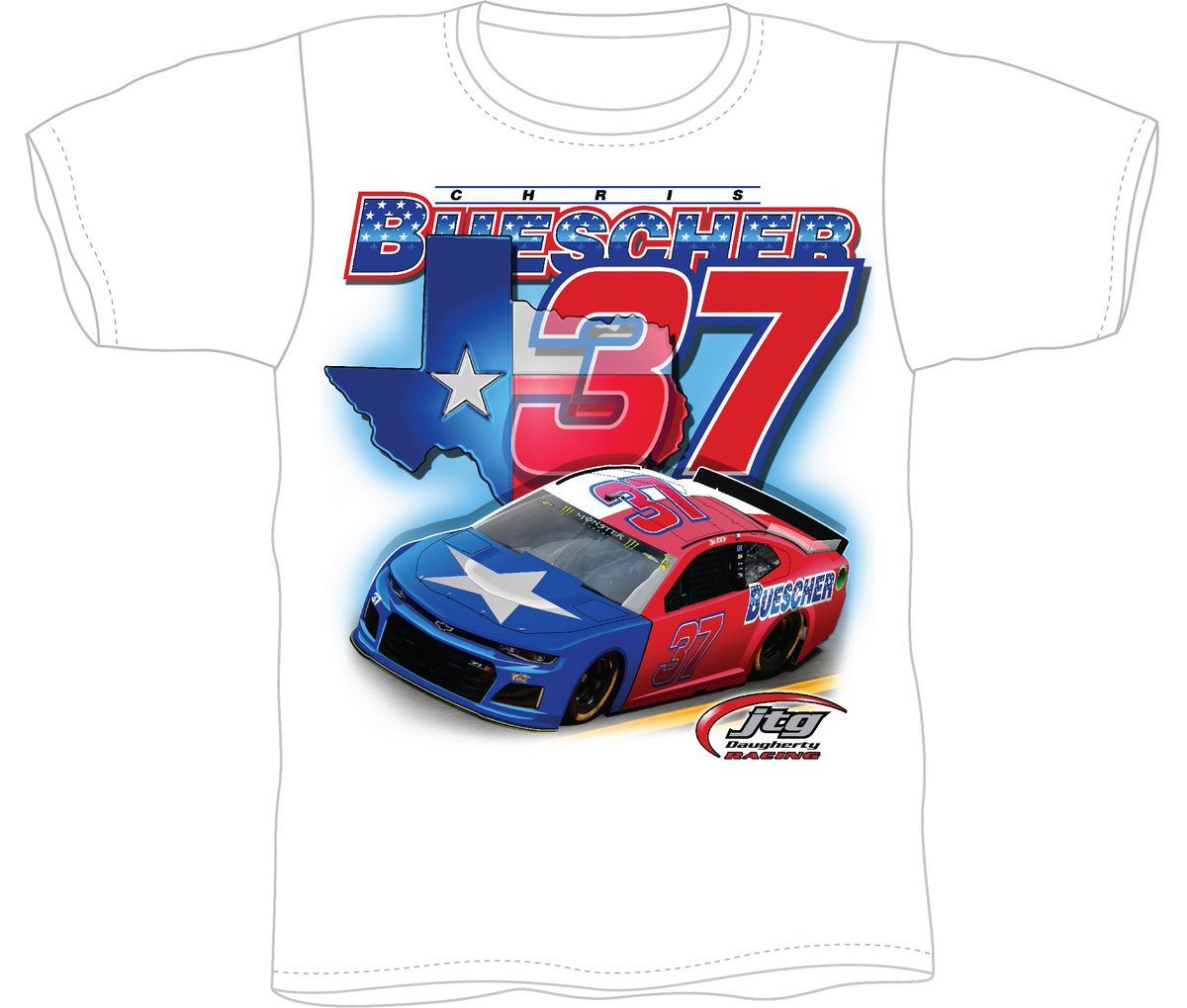 We love our hometown driver @Chris_Buescher! Get a ticket to the #AAATexas500, access to an exclusive meet & greet with Chris before the race, and this limited edition shirt for $79! Offer expires Oct 21! » bit.ly/BuescherTX
