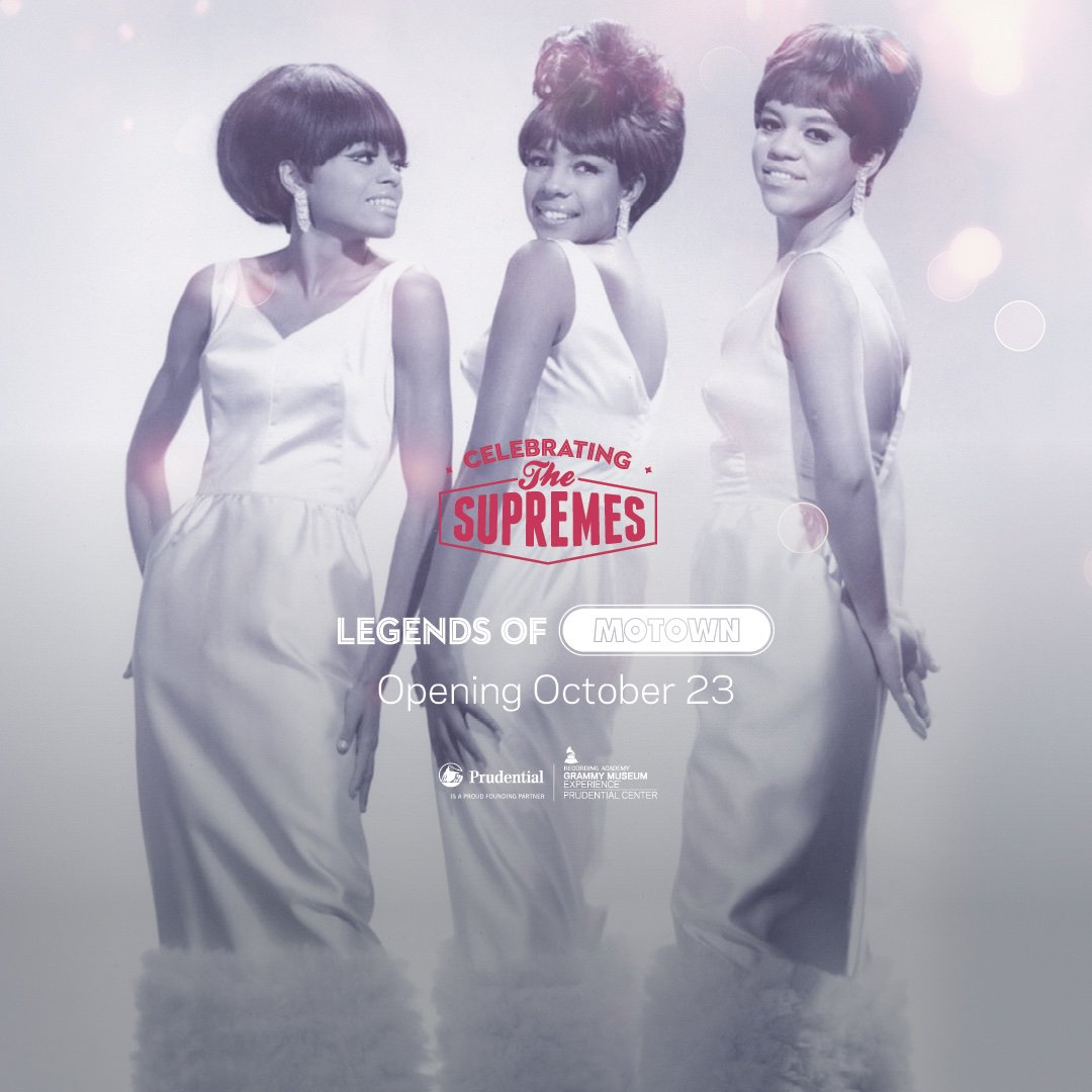 "Mark your 📅! The ""Legends of Motown: Celebrating The Supremes"" Exhibit in the #GRAMMYMuseumExp opens Oct. 23!    Following the opening, @MWilsonSupreme will join us for an exclusive conversation on Oct. 29!   ~Limited Availability~"