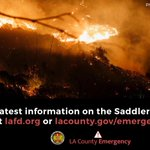 Image for the Tweet beginning: The #SaddleridgeFire is active primarily