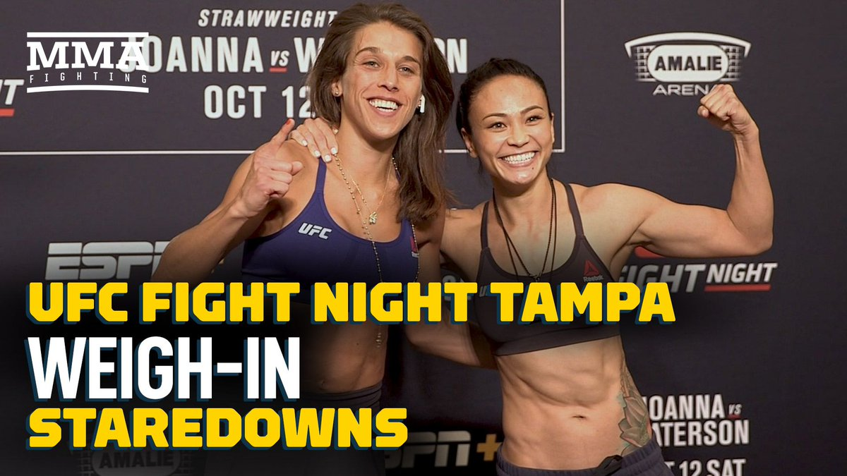 Video: UFC Tampa weigh-in staredowns mmafighting.com/2019/10/11/209…