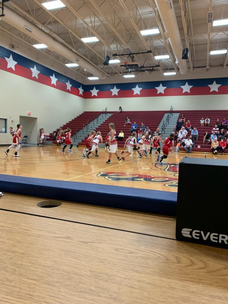 East basketball game! Girls represented East with PRIDE. #eomshouseadams