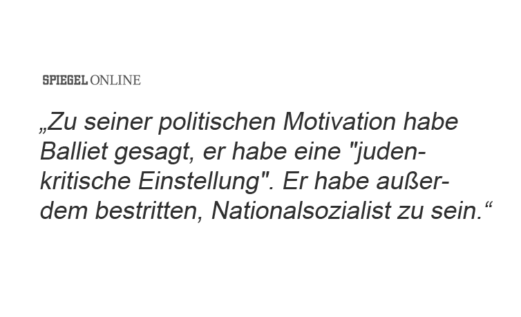 Ok Leute, war alles nur ein Missverständnis. Der Mann ist kein Nazi, er ist Judenkritiker. ¯\_(ツ)_/¯ #Halle