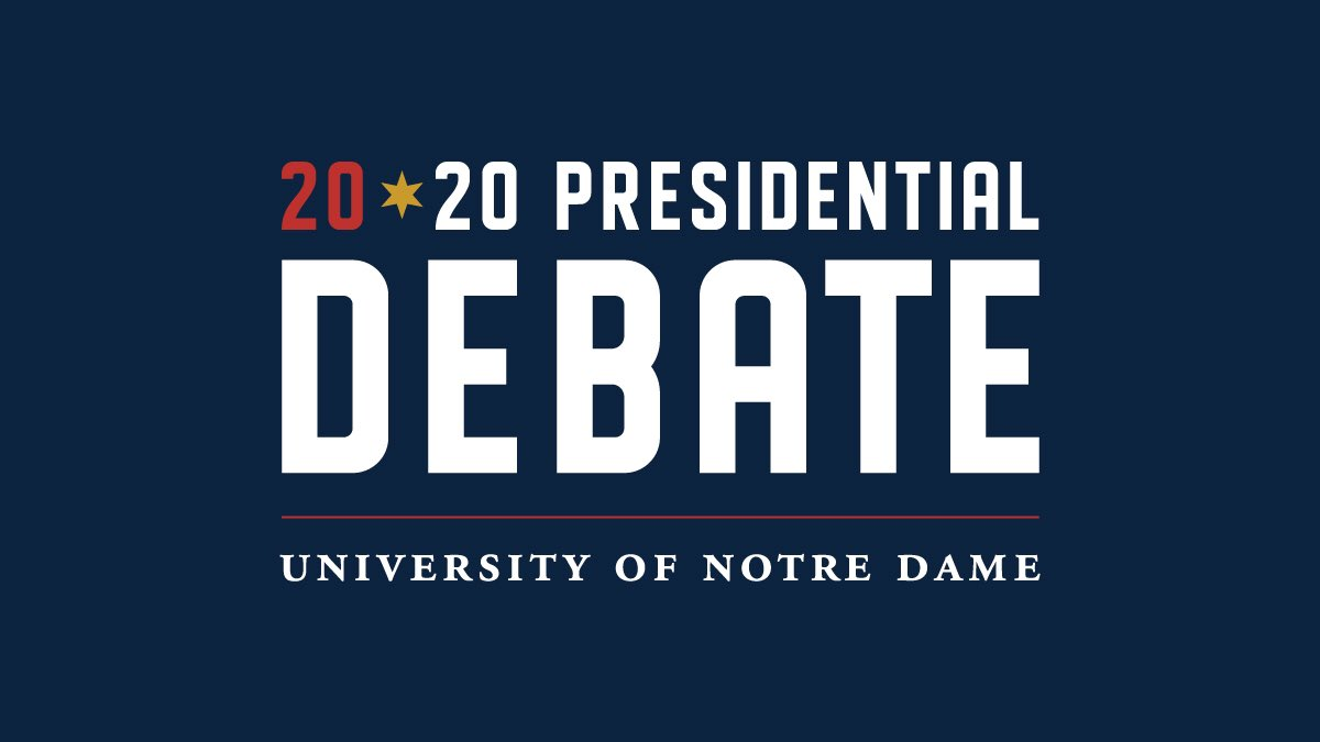 We are honored to host the first U.S. presidential debate in the 2020 election series go.nd.edu/71102c