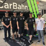 Image for the Tweet beginning: What a team! @CarBahn Motosports