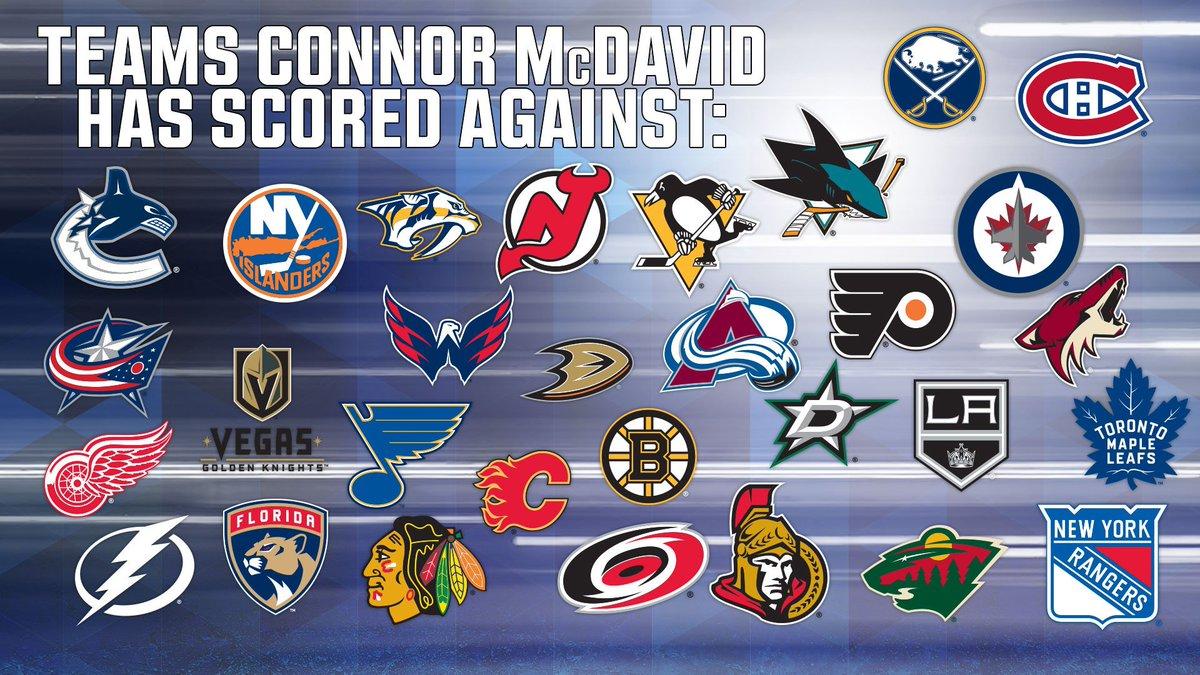 ALL OF THEM minus his @EdmontonOilers!  🚨