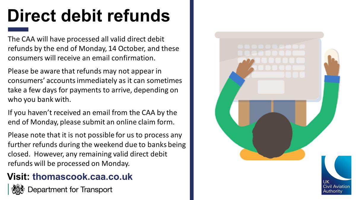 Update on Thomas Cook direct debit refunds 👇