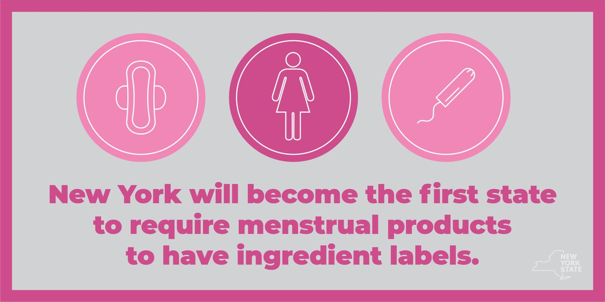 New York becomes first state requiring menstrual product ingredient lists