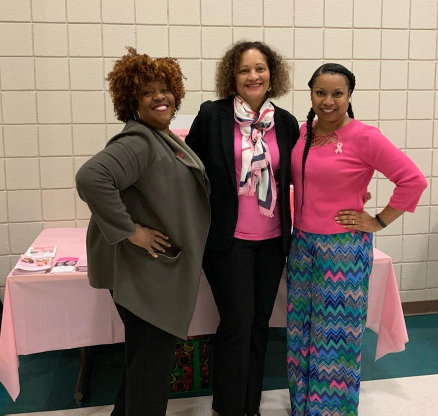 """Durham Alumnae celebrated and acknowledged our 12 """"Thrivers"""" who have over 90 years combined of being """"Cancer Free"""". #DeltasGoPink #BreastCancerAwareness #DST1913 #DACDST #ServiceInOurHeart #SistersNetwork<br>http://pic.twitter.com/4z2WrPMmwl"""