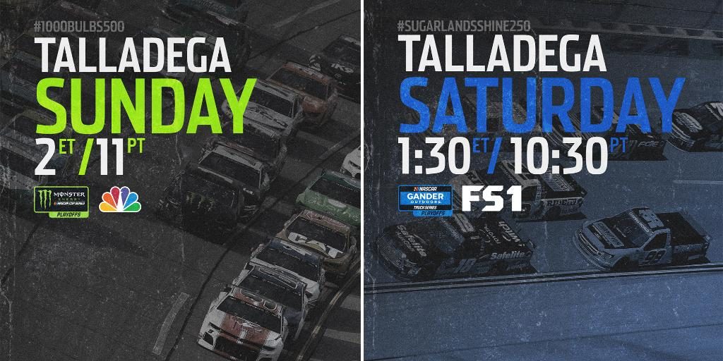 A weekend where we expect the unexpected! @TalladegaSuperS is here .pic.twitter.com/96lzinPC4h srhlink.com/RG0Rqz
