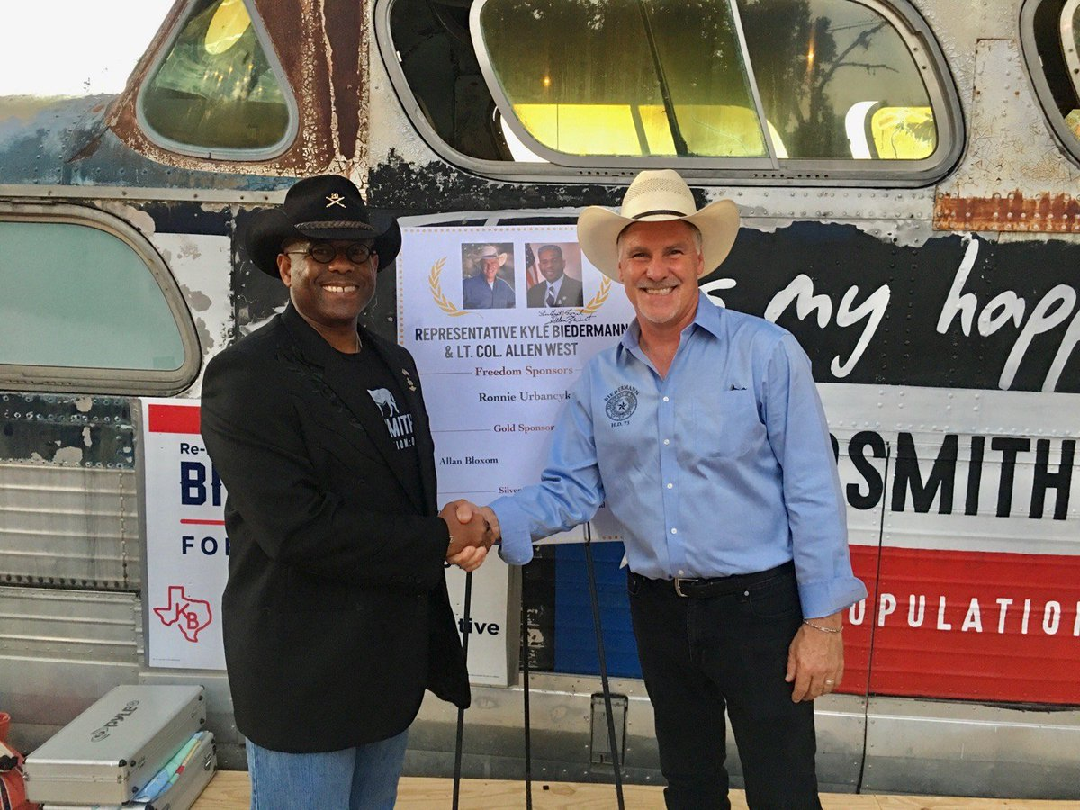 I am honored that Lt. Col. @AllenWest has endorsed me for re-election, and I look forward to continuing to represent you in the Texas House of Representatives! #txlege
