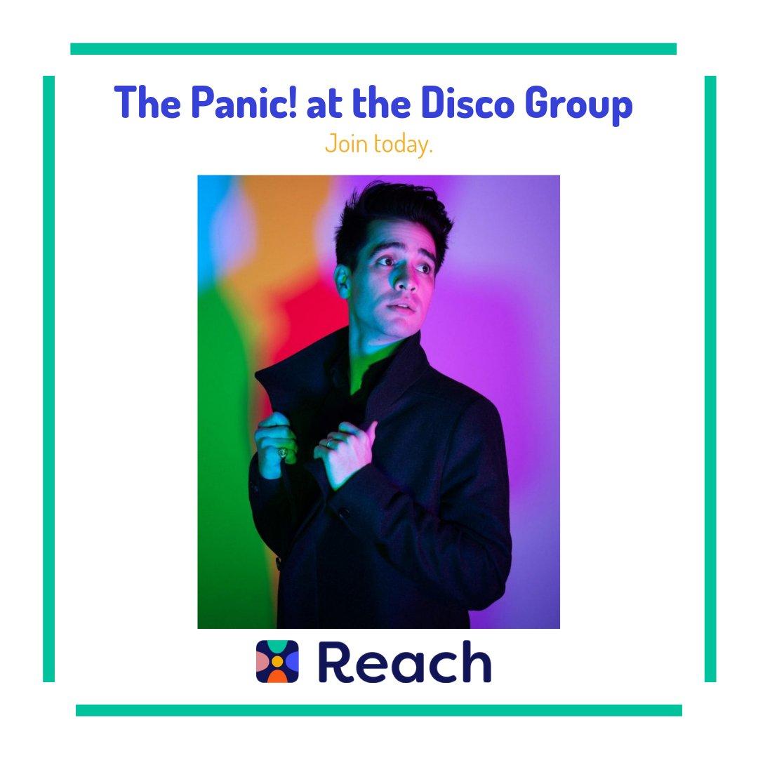 It may not be Saturday night but you can still join the Panic! at the Disco Group on Reach #PanicattheDisco #Reach #IBF #ReachYourIBFs #IBFgoals #InternetBestFriendspic.twitter.com/UxCy6QXFi2