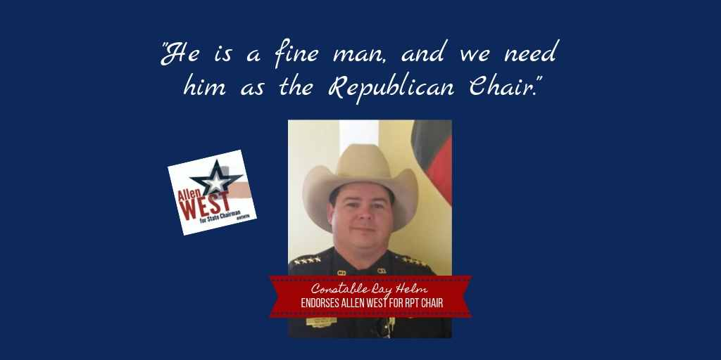 I am so deeply appreciative of this endorsement by Constable Ray Helm! Thank you, Constable! To read the endorsement online: west4texas.com/endorsement/en… Id be honored to have you add your own: west4texas.com/endorsements/e…