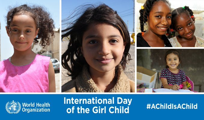 Happy International #DayOfTheGirl! When girls are able to stay in school & access health services equally, they can transform their future, which is essential for the health and well-being of families, communities and nations. Lets speak up for #GenerationEquality!