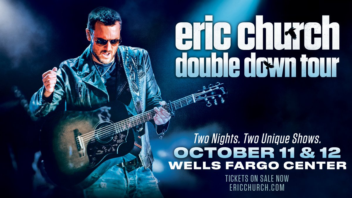 TONIGHT ➕ TOMORROW ➡️ Eric Church!   Are you ready to double down?