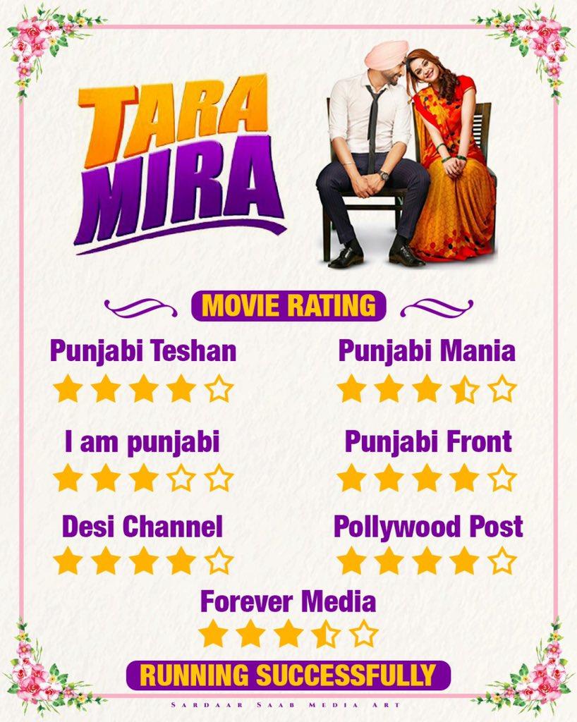 Thanks Critics ❤️ #TaraMira in Cinemas now