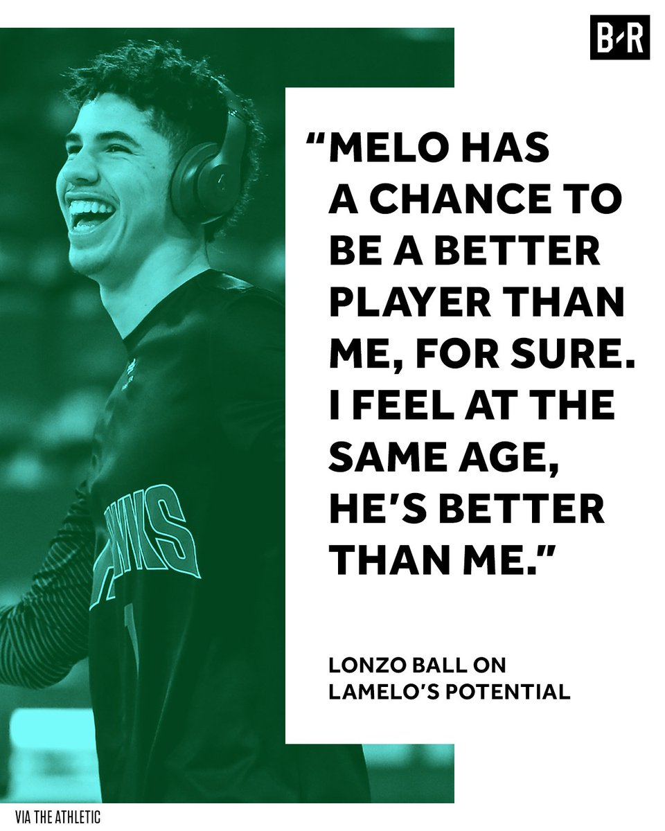 Lonzo knows his little brother's real potential 💯