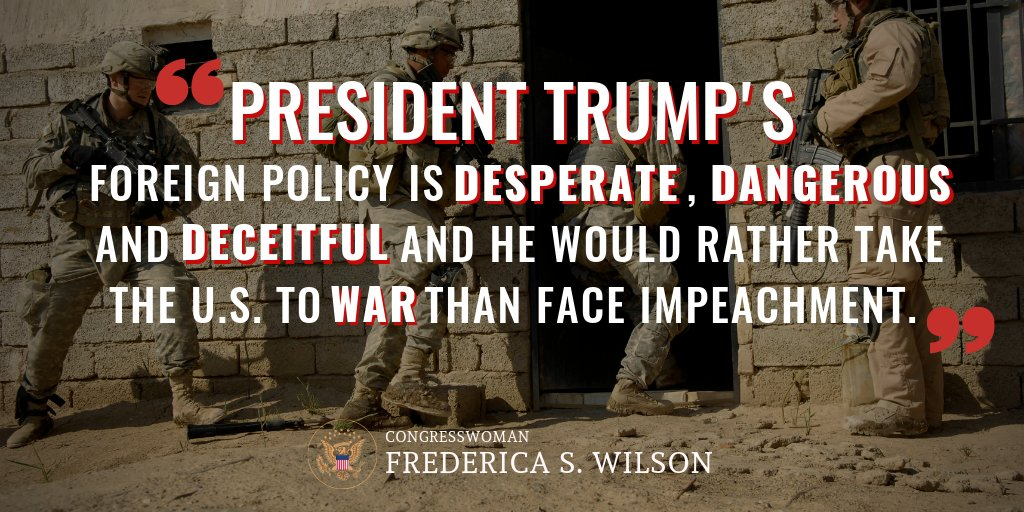 Is President Trump slow walking the U.S. into war in an attempt to avoid his inevitable impeachment?