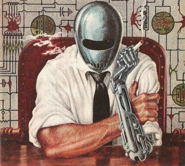 Just Around the Corner by Frank Kelly Freas #scifi #steampunk #Dark #smoker #vintagestyle