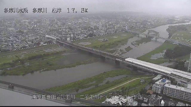 この2時間での多摩川の水位上昇スピードが恐ろしい
