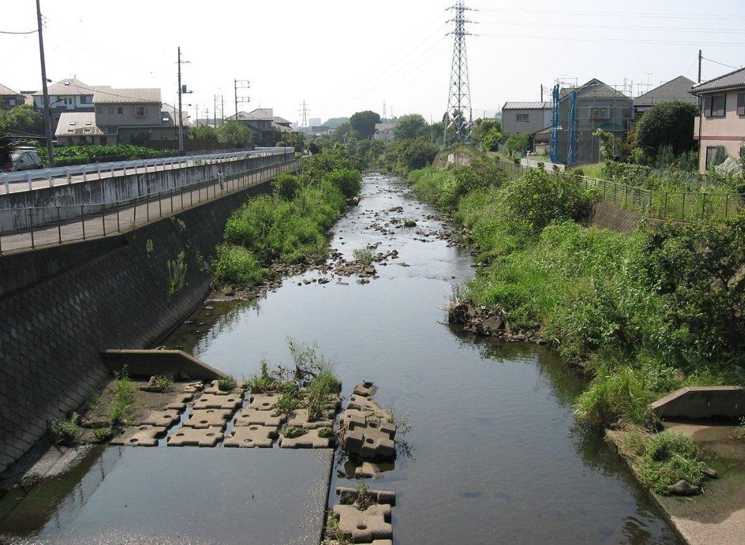 通常の境川の流れの画像