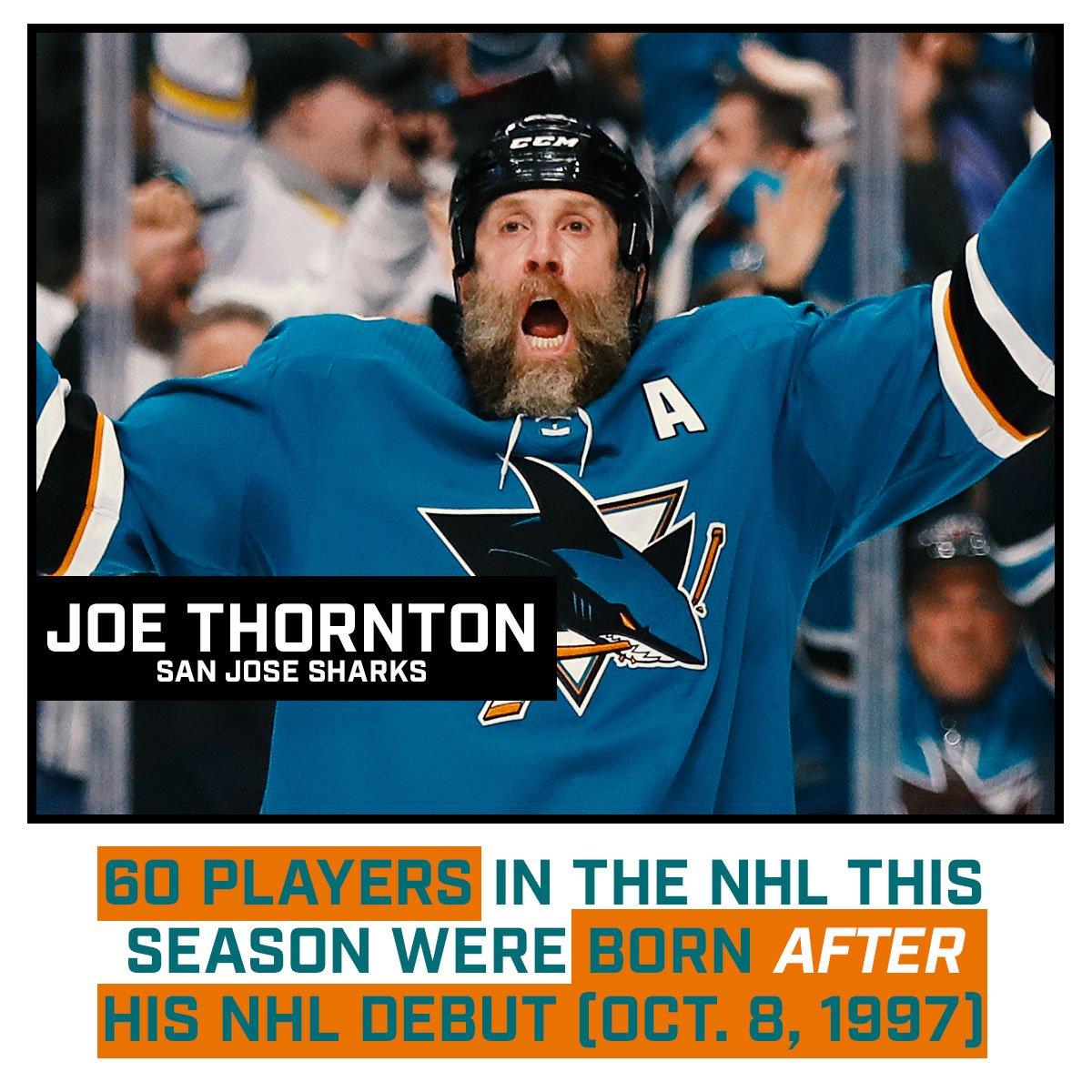 Can't stop won't stop Joe Thornton!