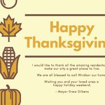 Image for the Tweet beginning: Wishing everyone a #HappyThanksgiving weekend!