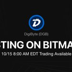 Image for the Tweet beginning: 🎉#BitMart will list @DigiByteCoin on