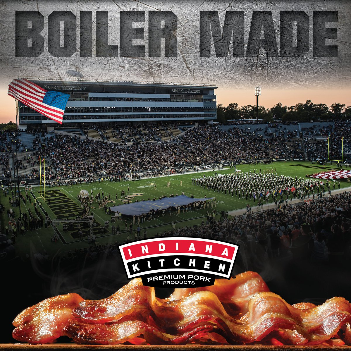 #BoilerUp! Hammer down!  The terrapins are coming to town. So is everybody else because it's Homecoming Weekend! Tune in this Saturday at noon to see the Boilermakers take on Maryland @TerpsFootball.   Indiana Kitchen Bacon--not just locally made. Boiler made. https://t.co/0naEXxsO2M