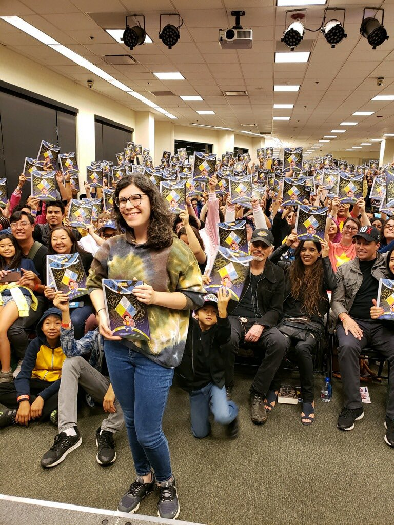 """Thank you to all the amazing fans who attended the """"Tale of Steven"""" meet n greets with Rebecca Sugar in NYC, Baltimore and LA. If you haven't gotten your copy of this magical story yet, you can get it here: cartn.co/SUTaleofSteven #TheTaleofSteven #stevenuniverse #cartoonnetwork"""