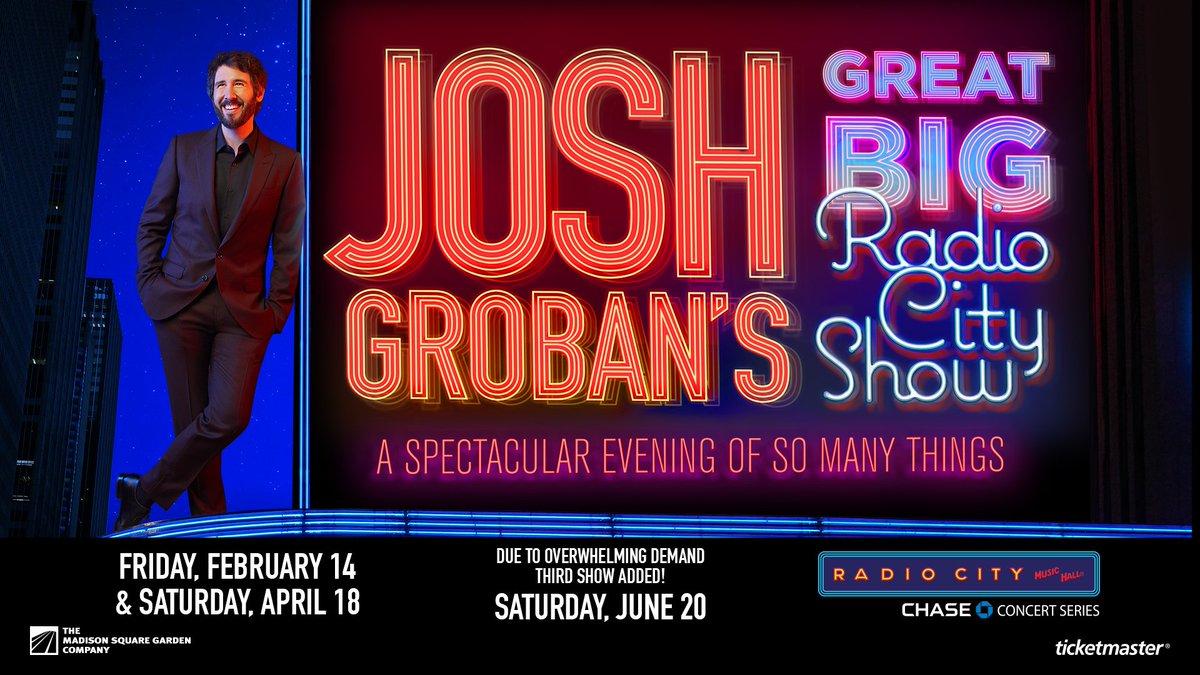 Josh Groban Tour 2020.Josh Groban On Twitter Exciting News Due To Insane