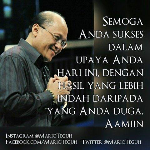 Aamiin ... 💗💝💖#doa #doapagi #Aamiin #semoga #upaya #MarioTeguh #motivasi #motivator #motivasihidup #motivatorindonesia #inspirasi #MTGW #sukses #MarioTeguhTV