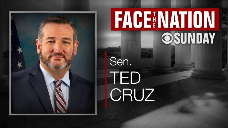 SUNDAY: We interview @SenTedCruz Our other guests ➡️ cbsn.ws/2MxxMej