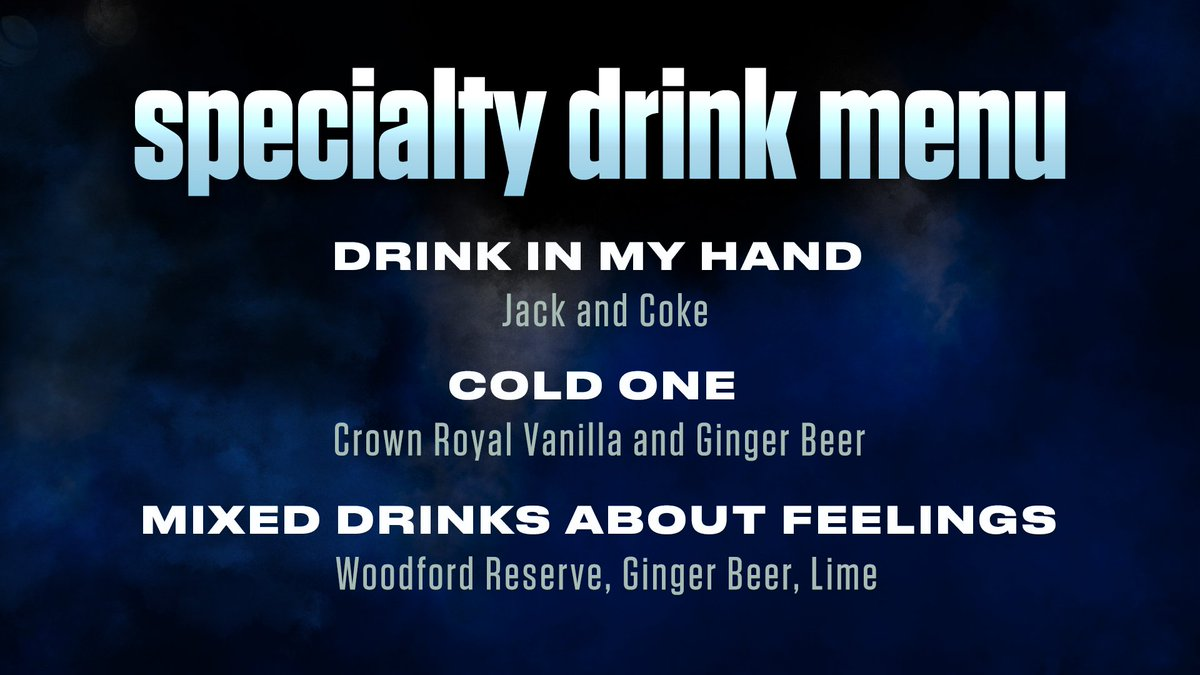 TGIF. 🍸  Enjoy these drinks at @ericchurch tonight and tomorrow!