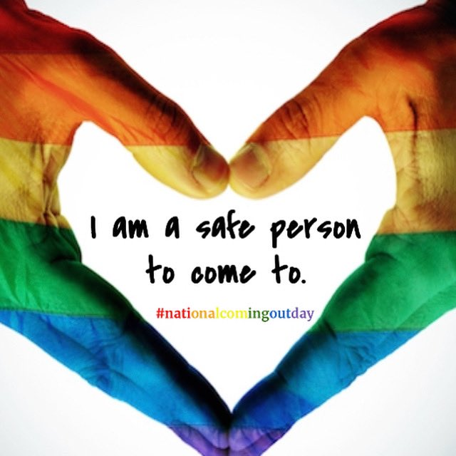 🧡💛💚💙💜 #lovewins #nationalcomingoutday